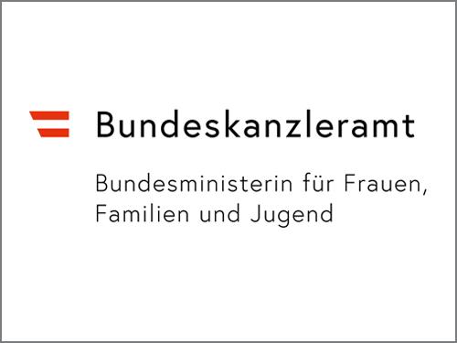 Logo des Bundeskanzleramtes - Bundesministerin für Frauen Familie und Jugend