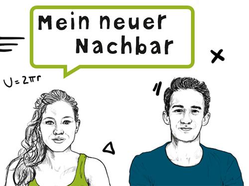 Titelbild der Broschüre mit Mädchen und Bub im Illustrationsstil gezeichnet