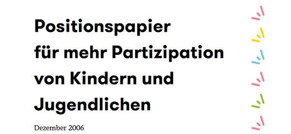 Titelblatt des Positionspapieres mit Schriftzug/Titel