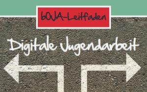"""Folder mit Titel """"Digitale Jugendarbeit"""" und Pfeil"""